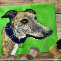 Unframed Custom 2D Needle Felt Dog Portrait
