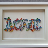Large Quilled LOVE Lettering