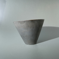 Abstract geometric art object. Closed cone 011. Conic form, closed at ends.