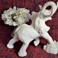 Earthenware Bisque Elephant, Ready to Paint