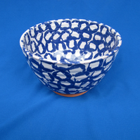 Small Bowl, blue rings design