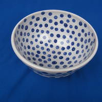 Small Blue Spotty Bowl    47