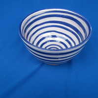 Small Bowl, fine painted lines