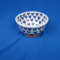 Small Bowl, with tiny blue hearts  35