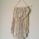 Macrame natural classic style wall hanging with fringe detail