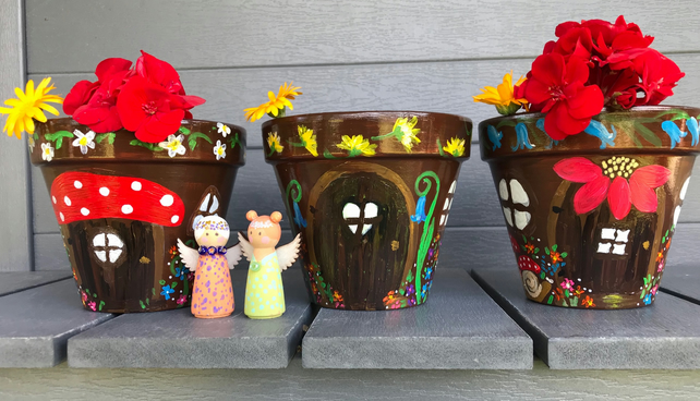 Fairy house terracotta  pots