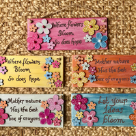 Hand painted signs, wall decor, hand decorated sign, by Sally Kirk