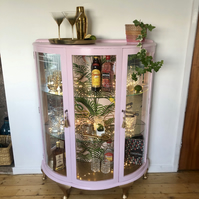 1920s Art Deco Pink Cocktail Cabinet