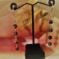 BEAUTIFUL HANDMADE RHODONITE AND STERLING SILVER EARRINGS
