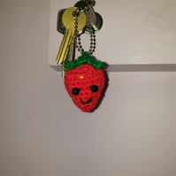 Crochet Strawberry Key Chain - PDF PATTERN ONLY