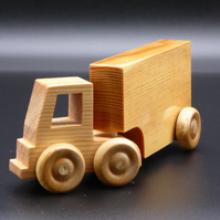 Wooden Lorry with Artic Box Trailer
