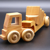 Wooden Lorry with Artic Trailer and Boat
