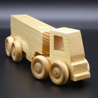 Wooden Lorry with Artic Fuel Tanker Trailer