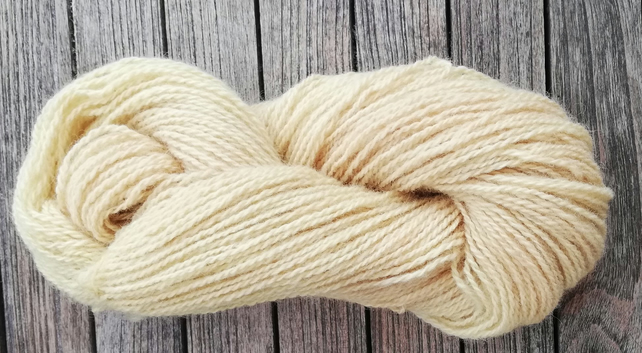 Pale Yellow (Willow) Hand Dyed 100% Wool. DK