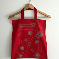 Indestructible Energy double sided geometric astronomy Tote