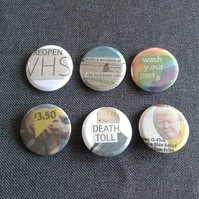 Triple One Five Handcut Collage Badges