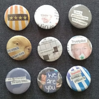 Triple One Five Handcut Collage Badges (Collection 5)