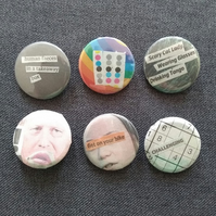 Triple One Five Handcut Collage Badges (6)