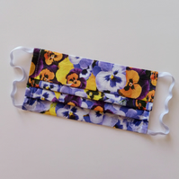 Non-Surgical Pansy Print Face Masks