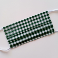 Non-Surgical Green Gingham Face Masks