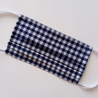 Non-Surgical Navy Gingham Face Masks