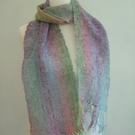 Multicoloured Pastel Acrylic Scarf with a Sparkle
