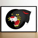 Tattoo Panther Art Print (A4)