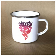 Heart of Flowers Enamel Mug