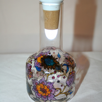 Abstract Floral - Handpainted Bottle Light