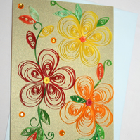 Floral Quilled Card A6