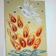 Pentecost Quilled Card A6
