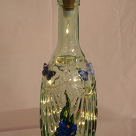 Orchids on Stage - Handpainted Bottle Light