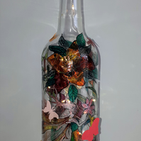 Lily Fairy - Handpainted Bottle Light