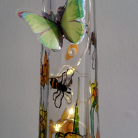 Bees and Bugs - Handpainted Bottle Light