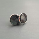 Anthracite Blue Stud earrings