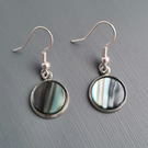 Anthracite Blue Dangle earrings