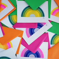 Mini Rainbow Risograph A6 Cards - 3 Pack