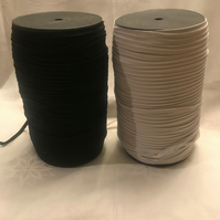 5 or 10 or 20 or 50 metres Black 5mm elastic best quality product.