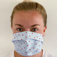 Cath Kidston Dot, 3 layer reusable cotton facemask