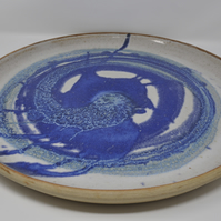 Large hand thrown ceramic platter