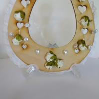 Wooden Decorated Horseshoe