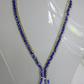 Elegant Blue & Silver Necklace