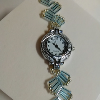 Light Turquoise & Silver Watch Bracelet