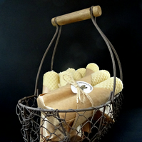 100% Pure Beeswax Honeycomb Candles Pair