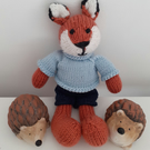 Knitted fox boy