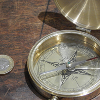 Large Pocket compass can be engraved with your message