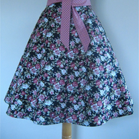 Circular Skirt with Tie Belt