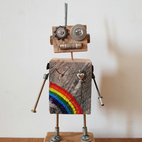 Wood Bot named Hope