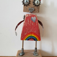 Wood Bot named Faith