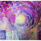 "16 x 12"" Original Prophetic Abstract Acrylic Purple Painting on Stretched Canvas"